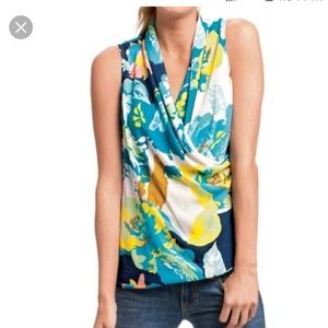 M Cabi #741 Spring Blossom Faux Wrap Top